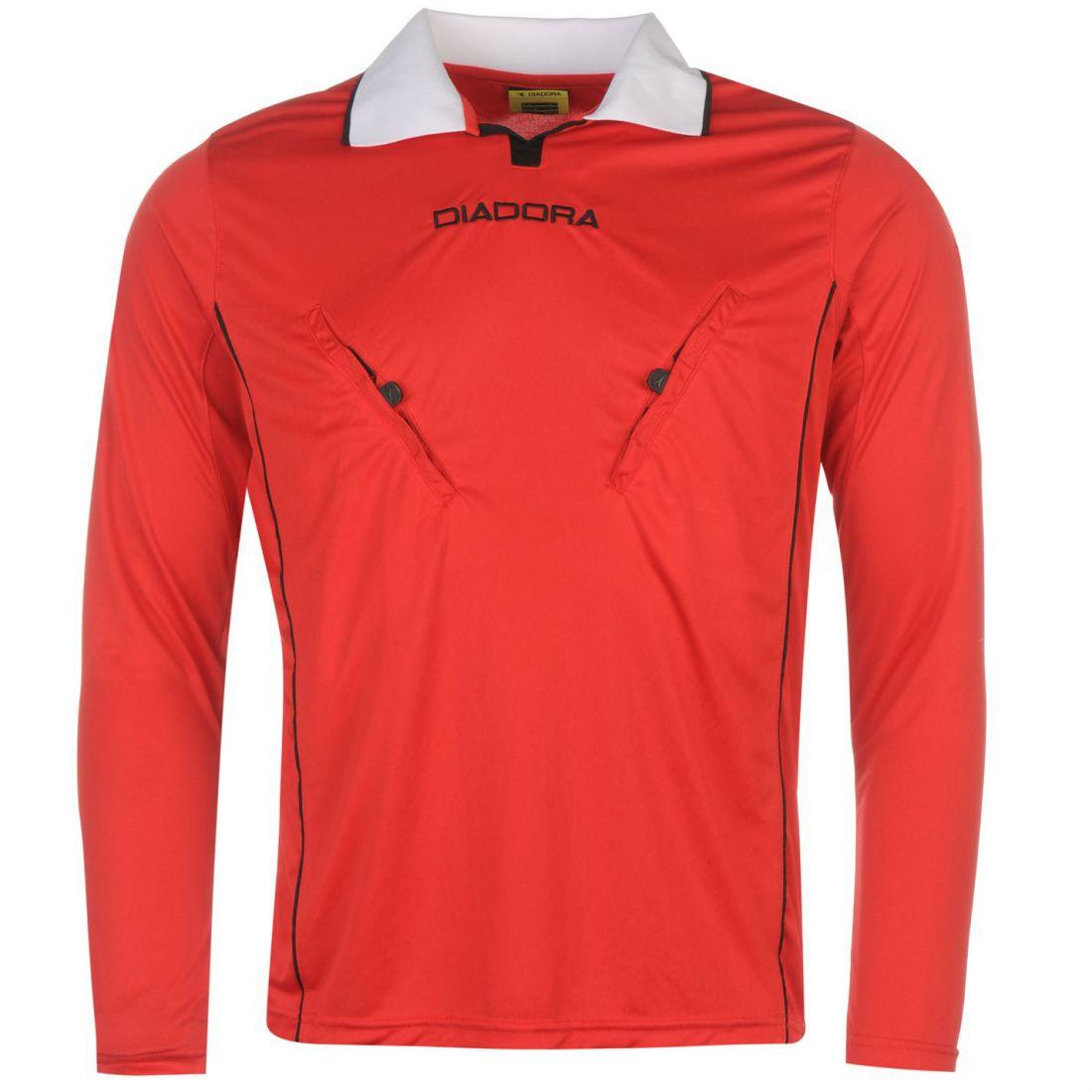 a3b30789216 Diadora Mens Montreal Long Sleeve Referee Shirt Baselayer Top ...