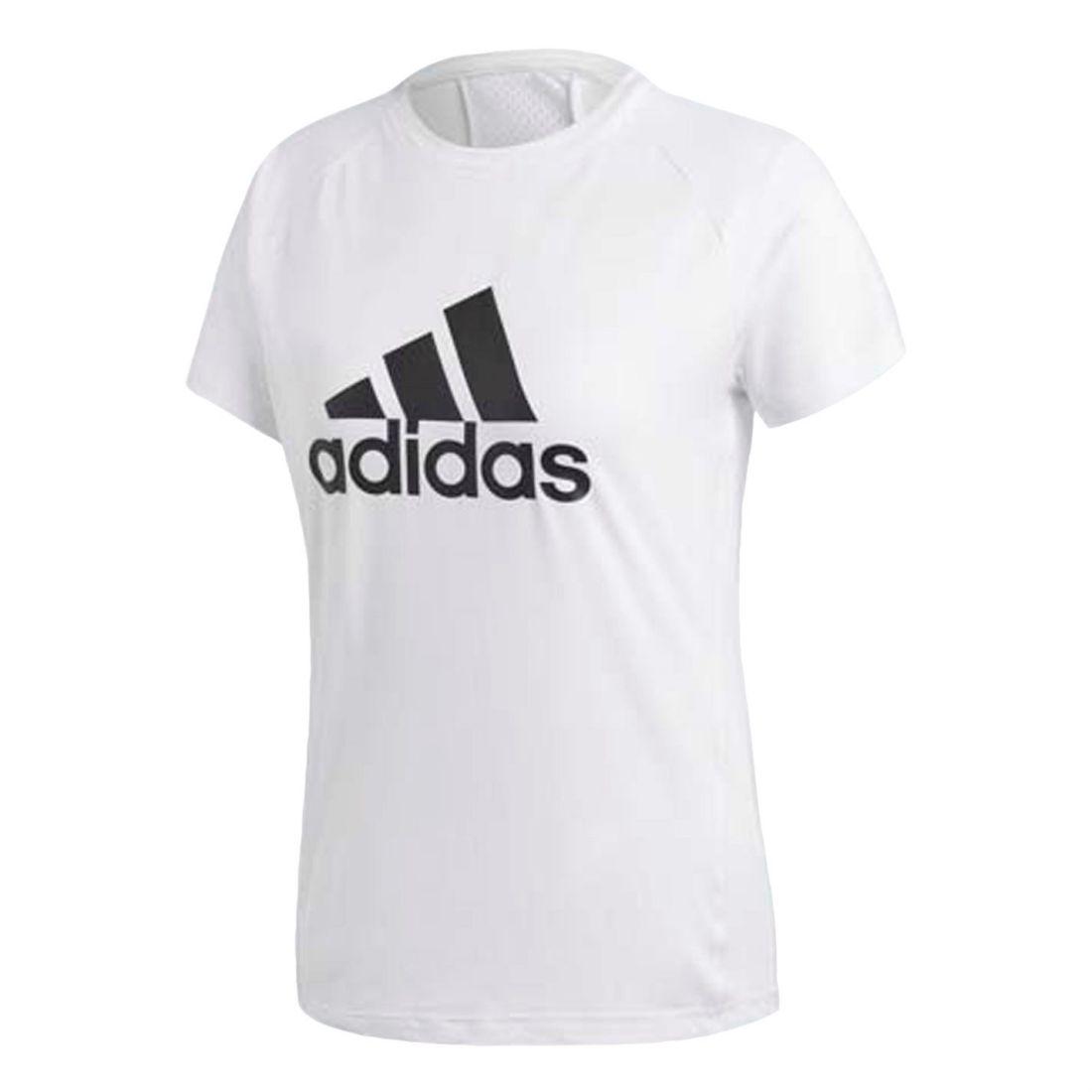 5d1dc9102a0e adidas Womens D2M Logo T Shirt Short Sleeve Performance Tee Top Crew Neck
