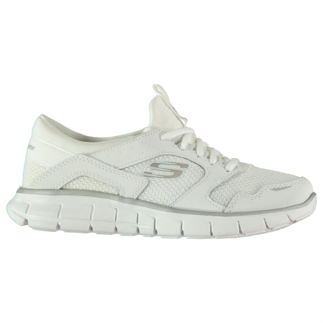 Skechers femmes Flex Runner Trainers Runners Lace Up Breathable Mesh Panels