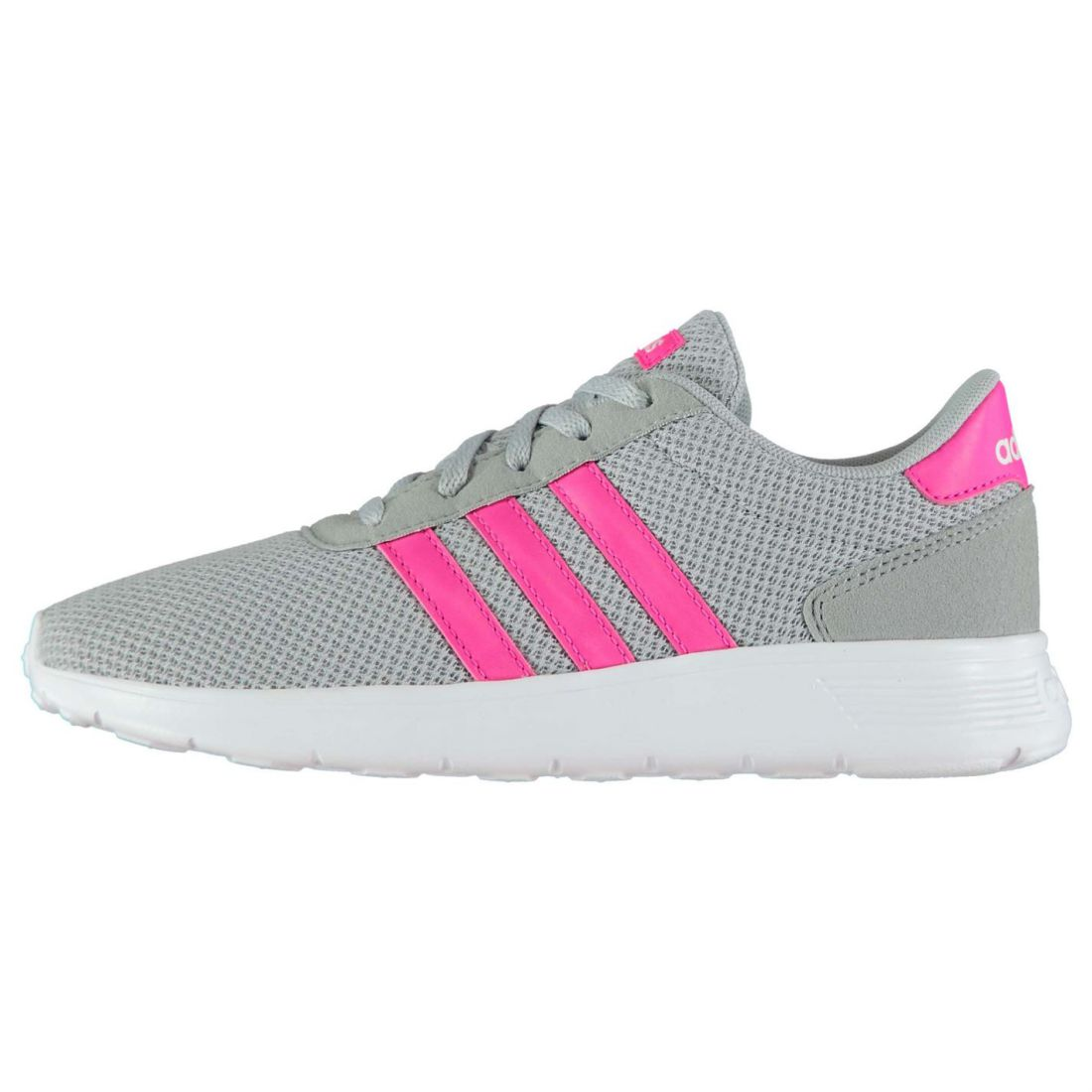adidas Kids Girls Lite Racer Child Trainers Runners Lace Up Casual ... 40ed85c13