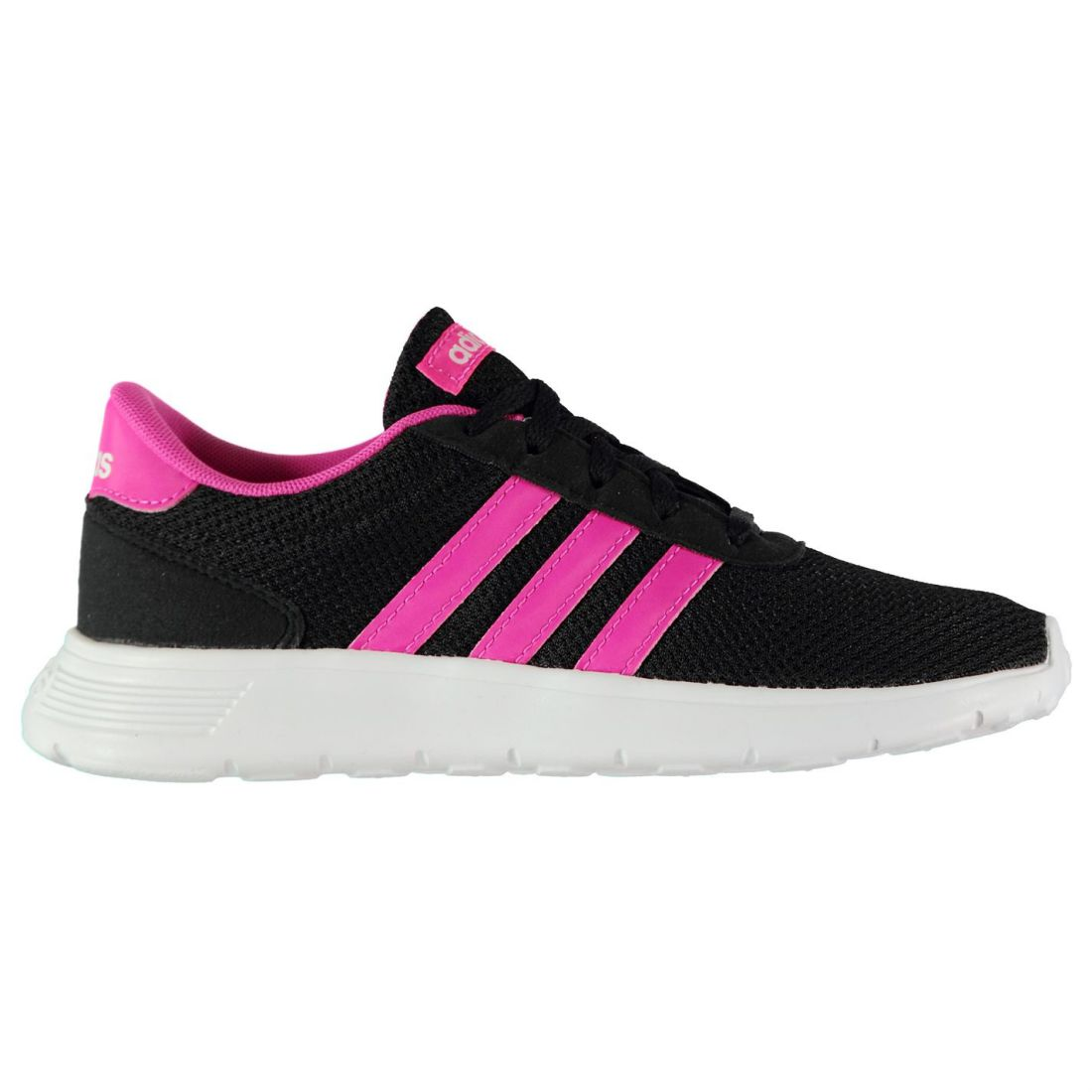 06278c263072 adidas Kids Girls Lite Racer Child Trainers Runners Lace Up Casual ...