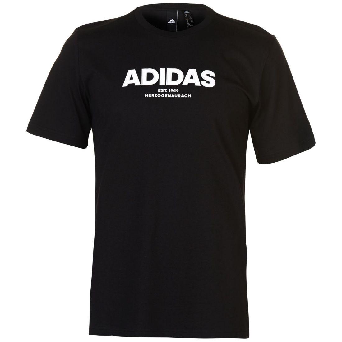 Haut Manches Homme Col T Noir Cap Rond Shirt All à Courtes Adidas xerCBod