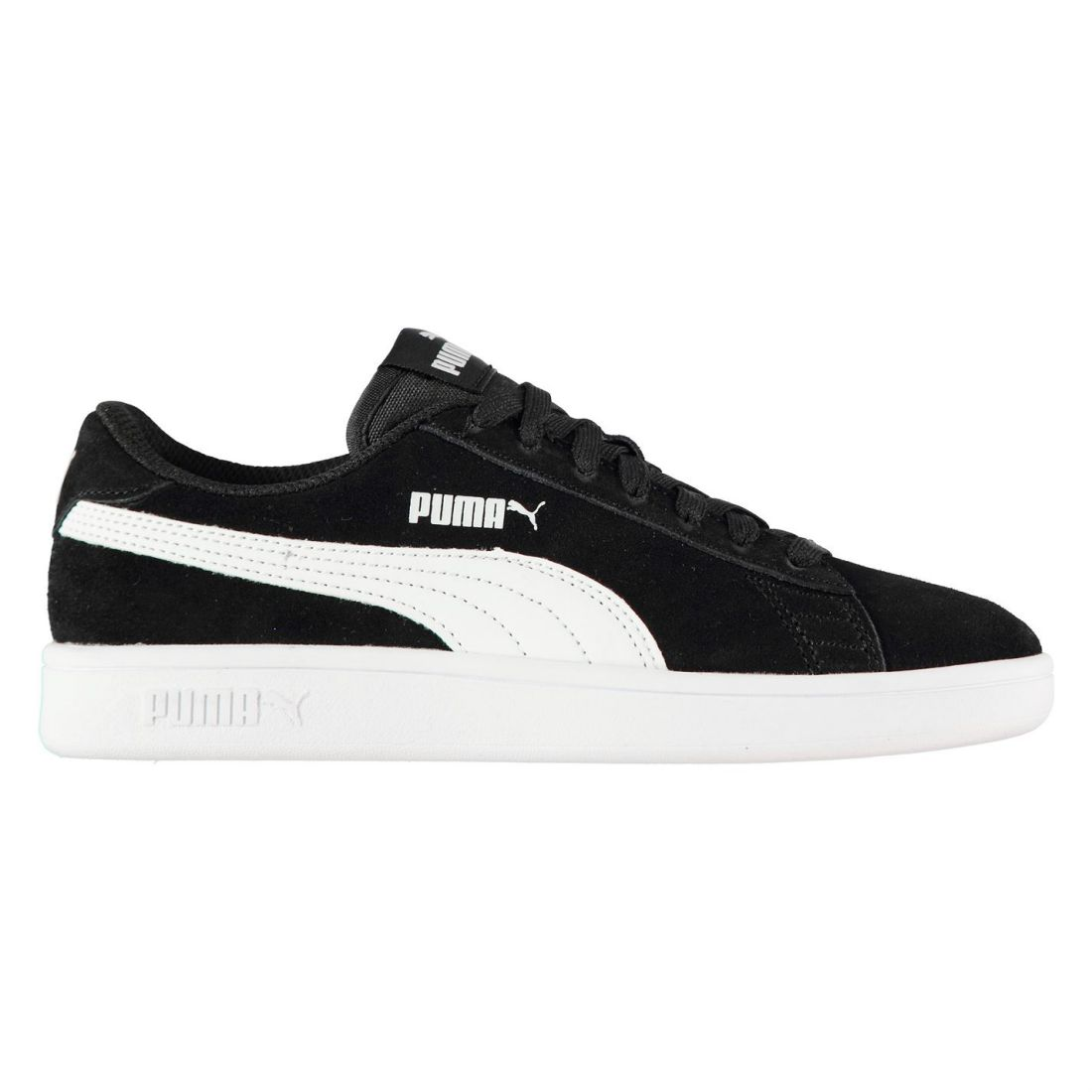 Puma Kids Boys Smash Suede Junior Trainers Lace Up Tonal Stitching Stripe 9cc41501b