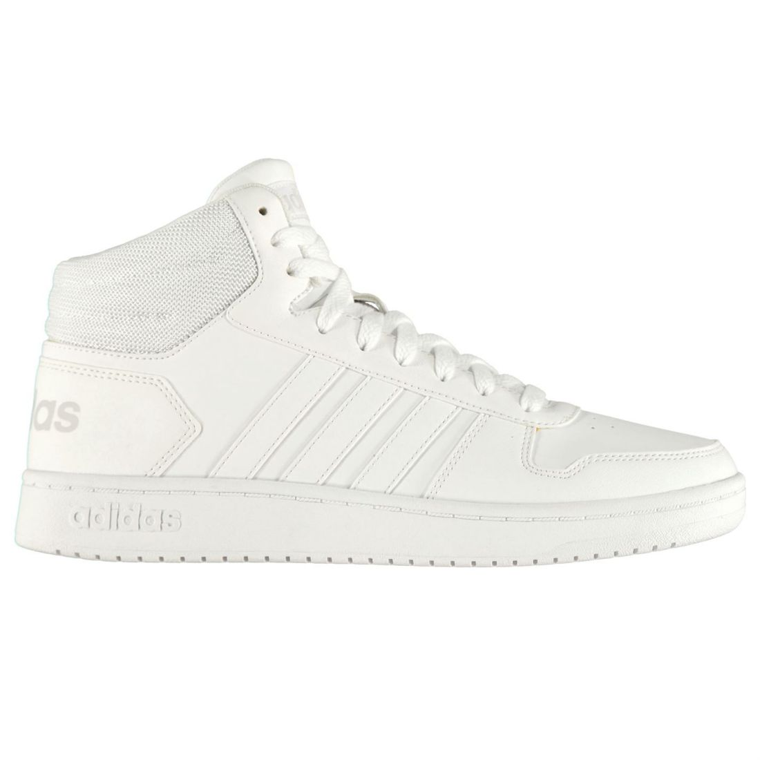 adidas Hoops Mid Shoes Mens Gents High Top Laces Fastened