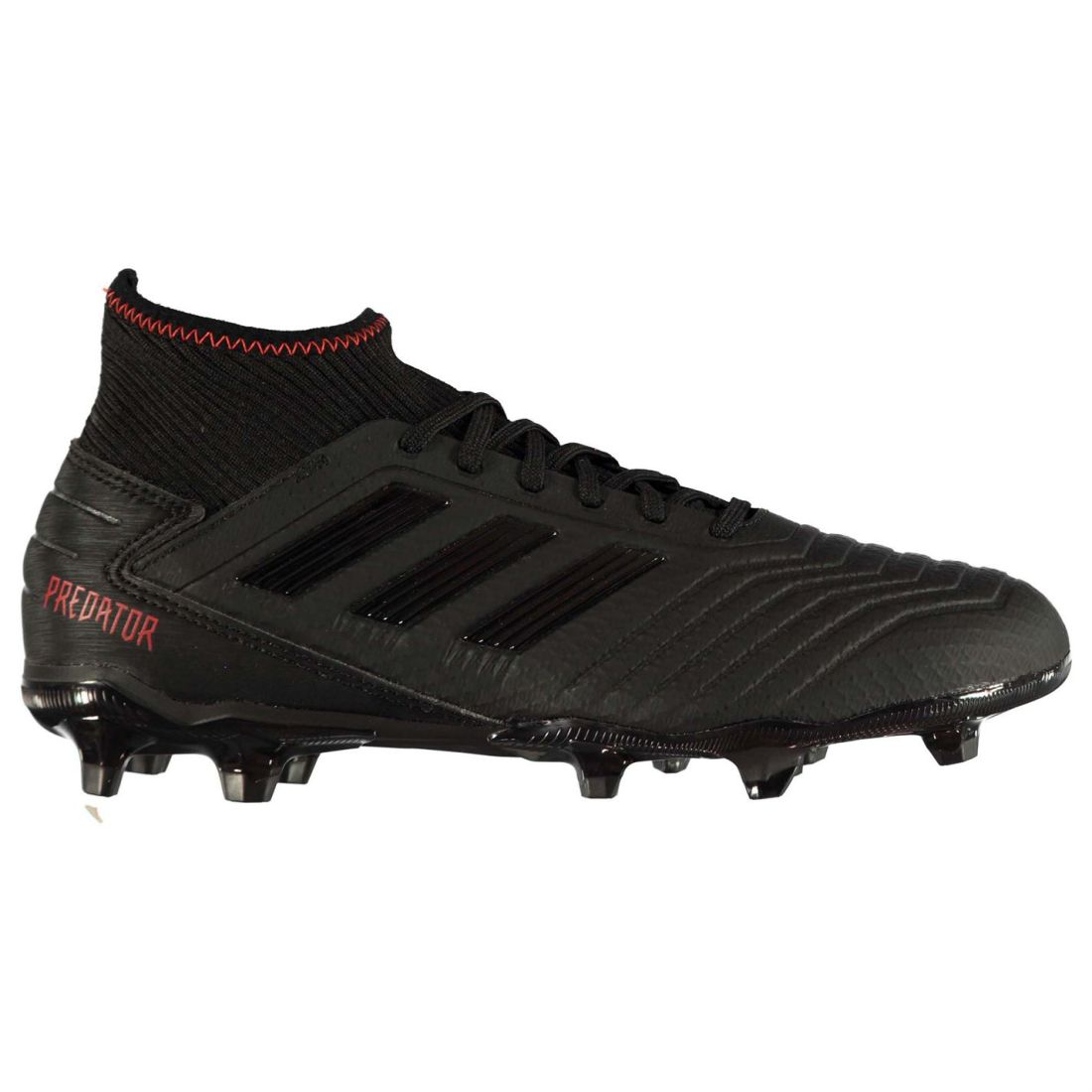 Adidas Mens Predator 19.3 FG Football Boots Firm Ground Lace Up Studs Stretch