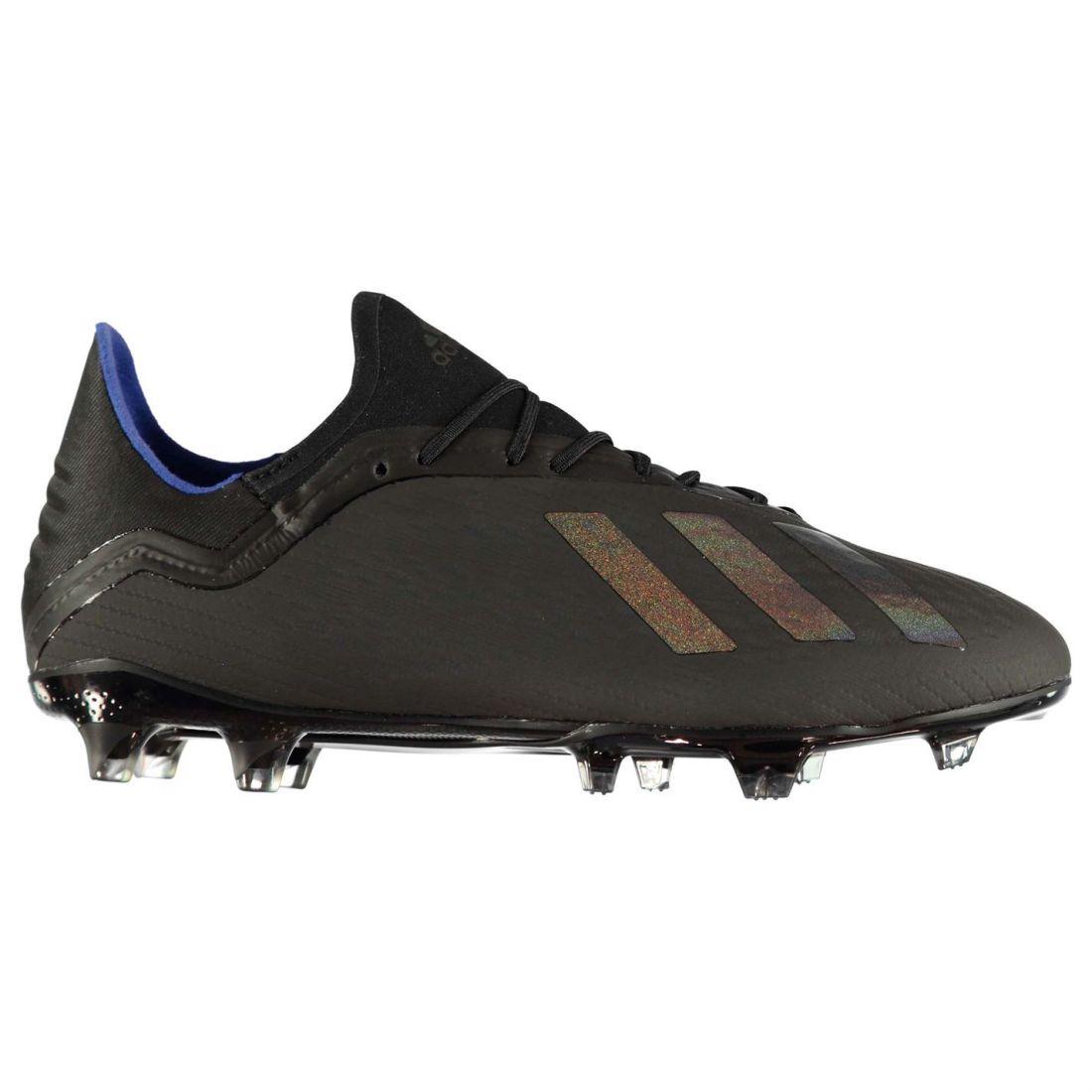 Adidas Mens X 18.2 FG Football Boots Firm Ground Lace Up Lightweight Mesh Upper