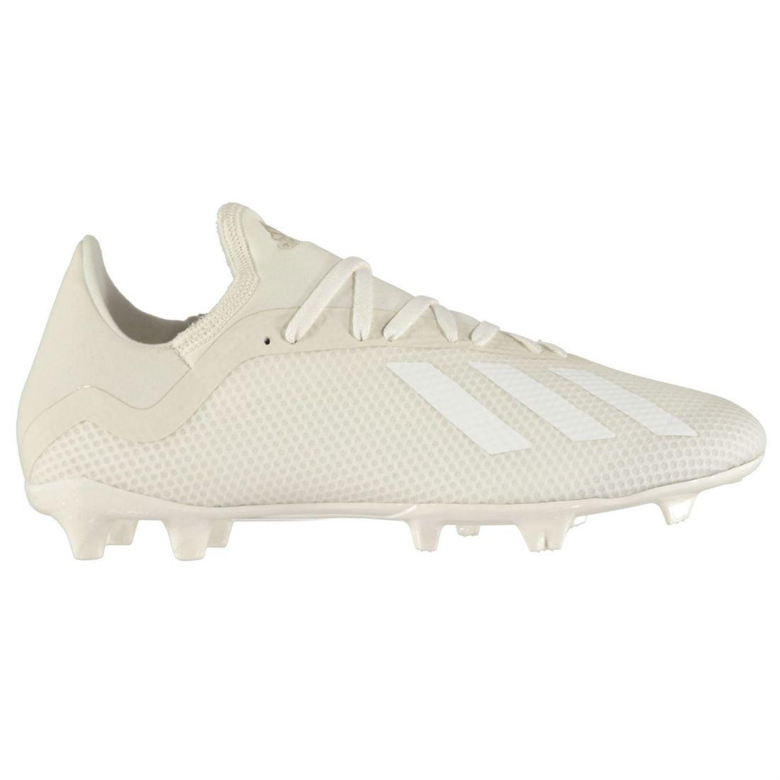 Adidas Mens X 18.3 FG Football Boots Firm Ground Lace Up Lightweight Mesh Upper