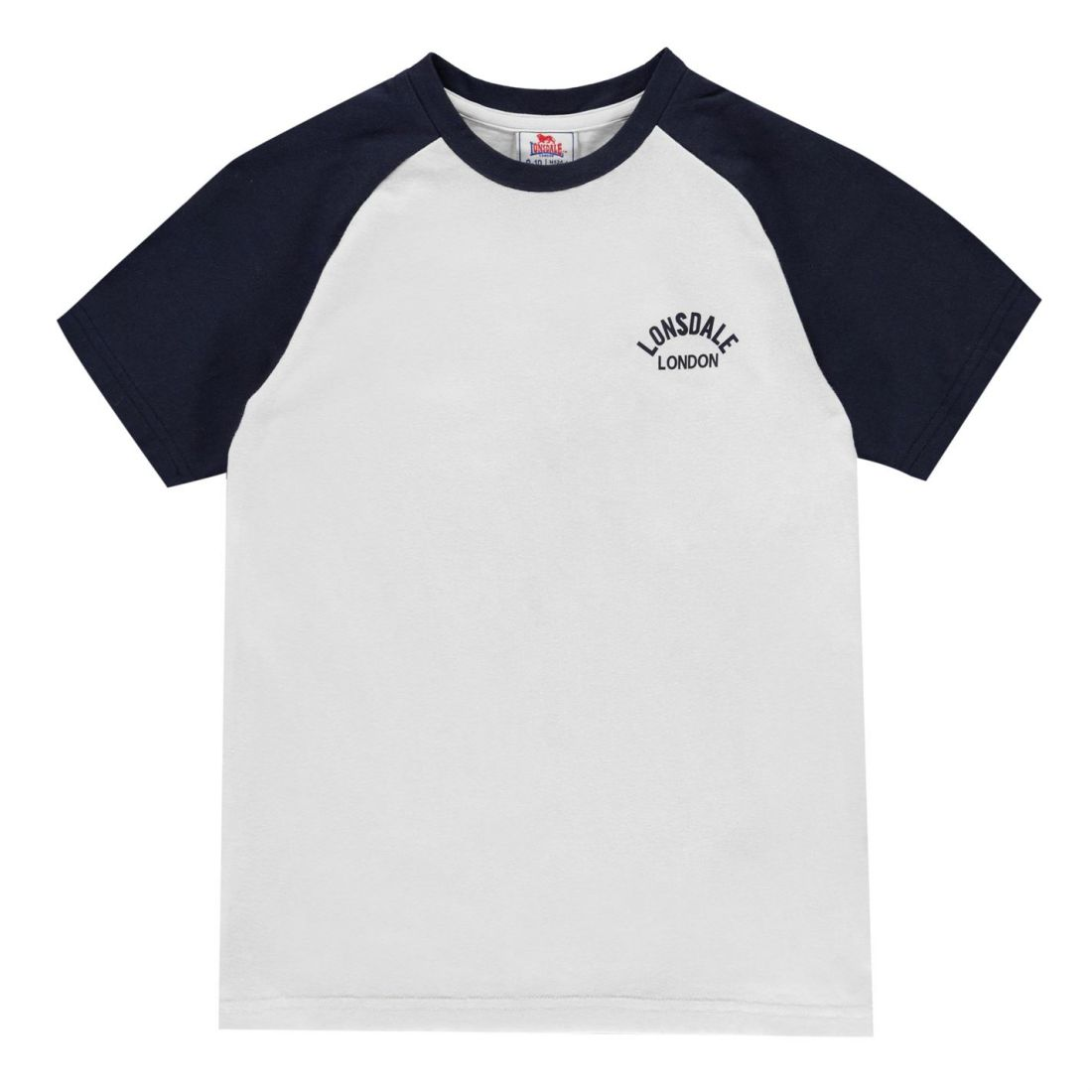 40d4c43bb8788 Lonsdale Kids Boys Raglan T Shirt Junior Crew Neck Tee Top Short ...