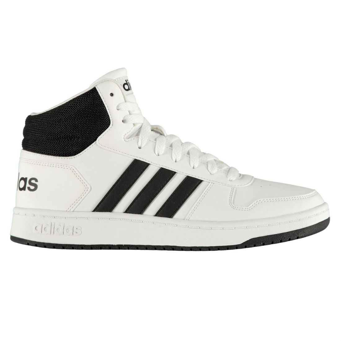 san francisco eb200 06ae2 adidas Mens Hoops Mid Shoes High Top Lace Up Breathable Comfortable Fit  Textured