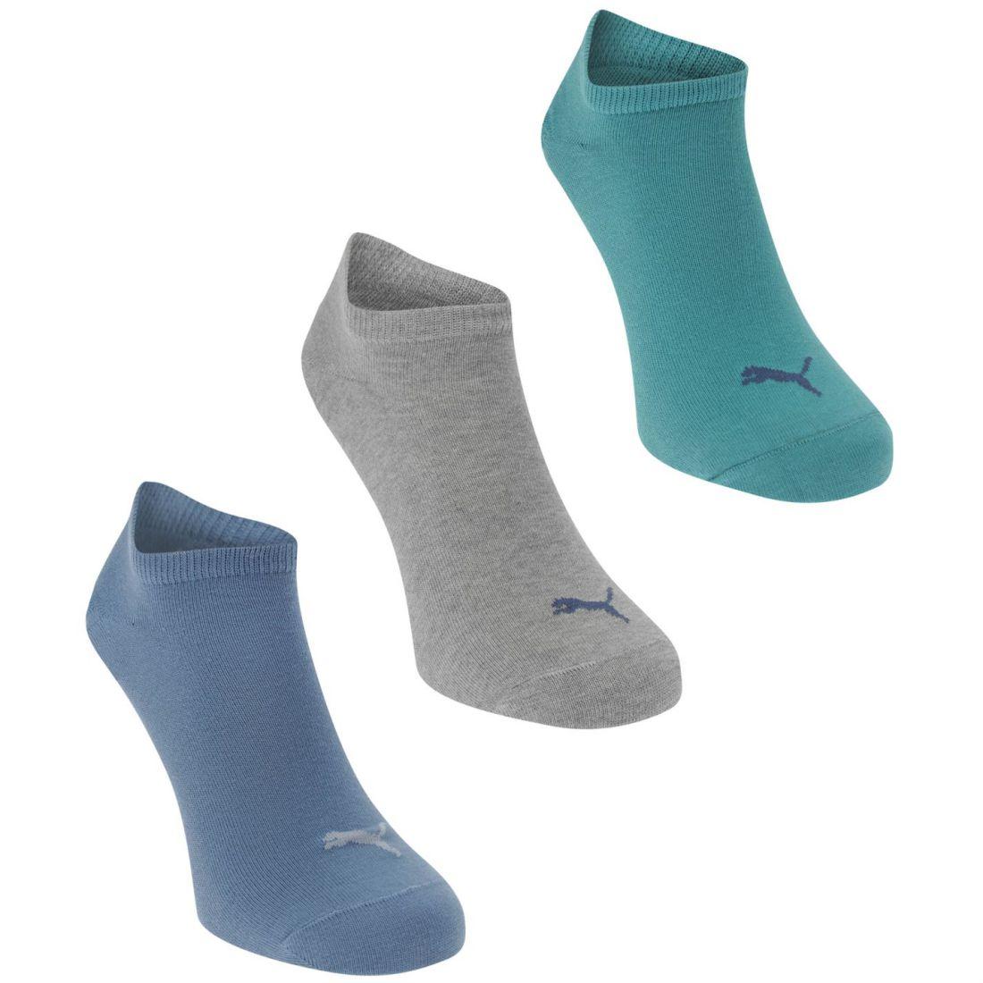 Puma Unisex Pack of 3 Sneaker Socks Trainer Lightweight | eBay