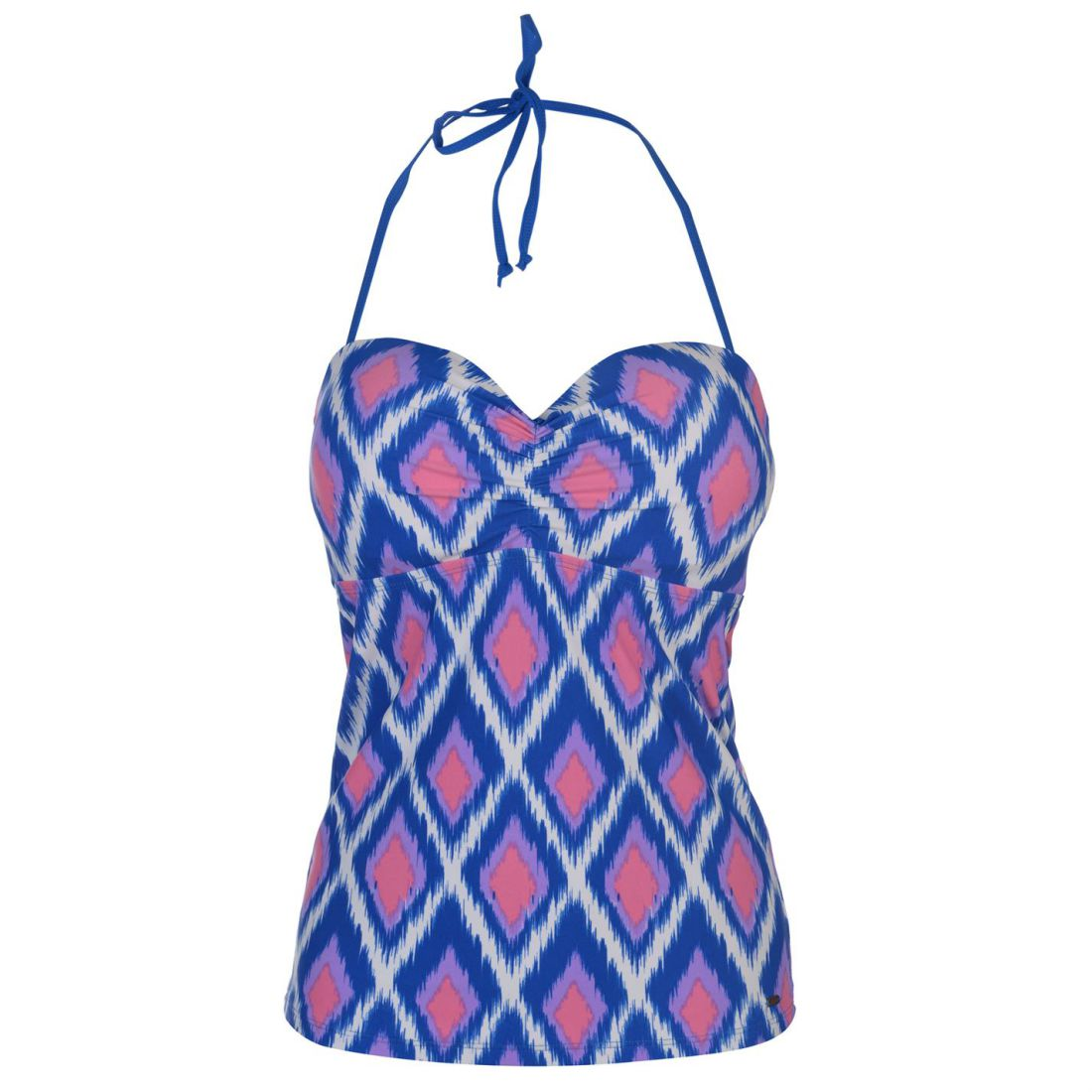 97c3dbcf7 Image is loading SoulCal-Bandeau-Tankini-Top-Ladies -Pattern-Stretch-Elasticated