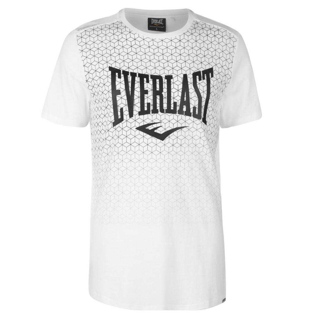 Dettagli su Everlast Da Uomo Stampa Geometrica T shirt Girocollo Tee Top Manica Corta Cotone mostra il titolo originale