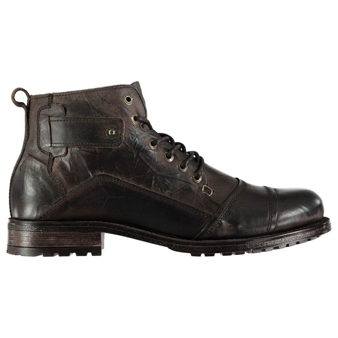 e7036da02 FIRETRAP MENS WEBB Boots Smart Lace Up Slight Heel Textured - $82.50 ...