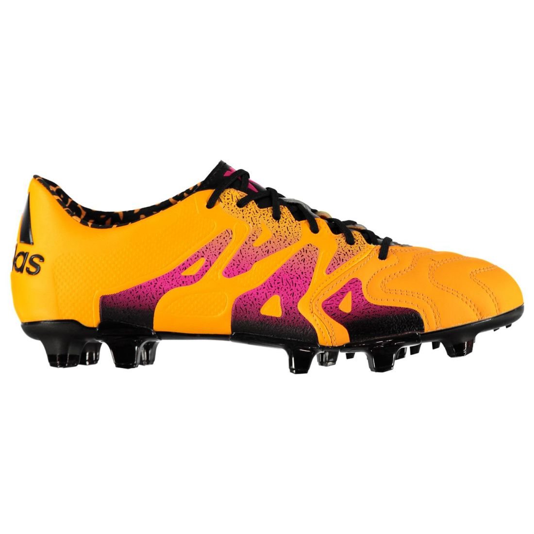the latest 42467 79067 adidas Mens X 15.1 FG AG Leather Football Boots Firm Ground Lace Up Pattern