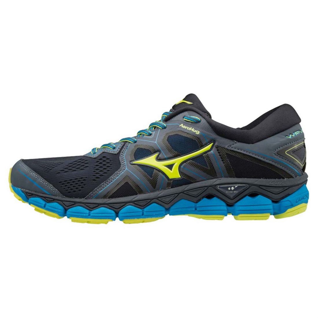 Mizuno Mens Wave Sky 2 Running schuhe Road Breathable Mesh Upper