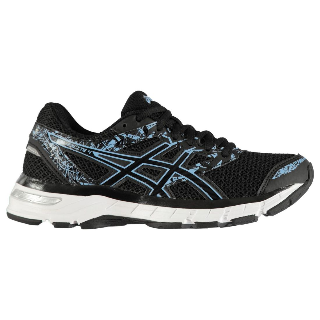 Asics Gel Excite 4 4 4 Running shoes Ladies Road Laces Fastened Ventilated Padded 4aeeba
