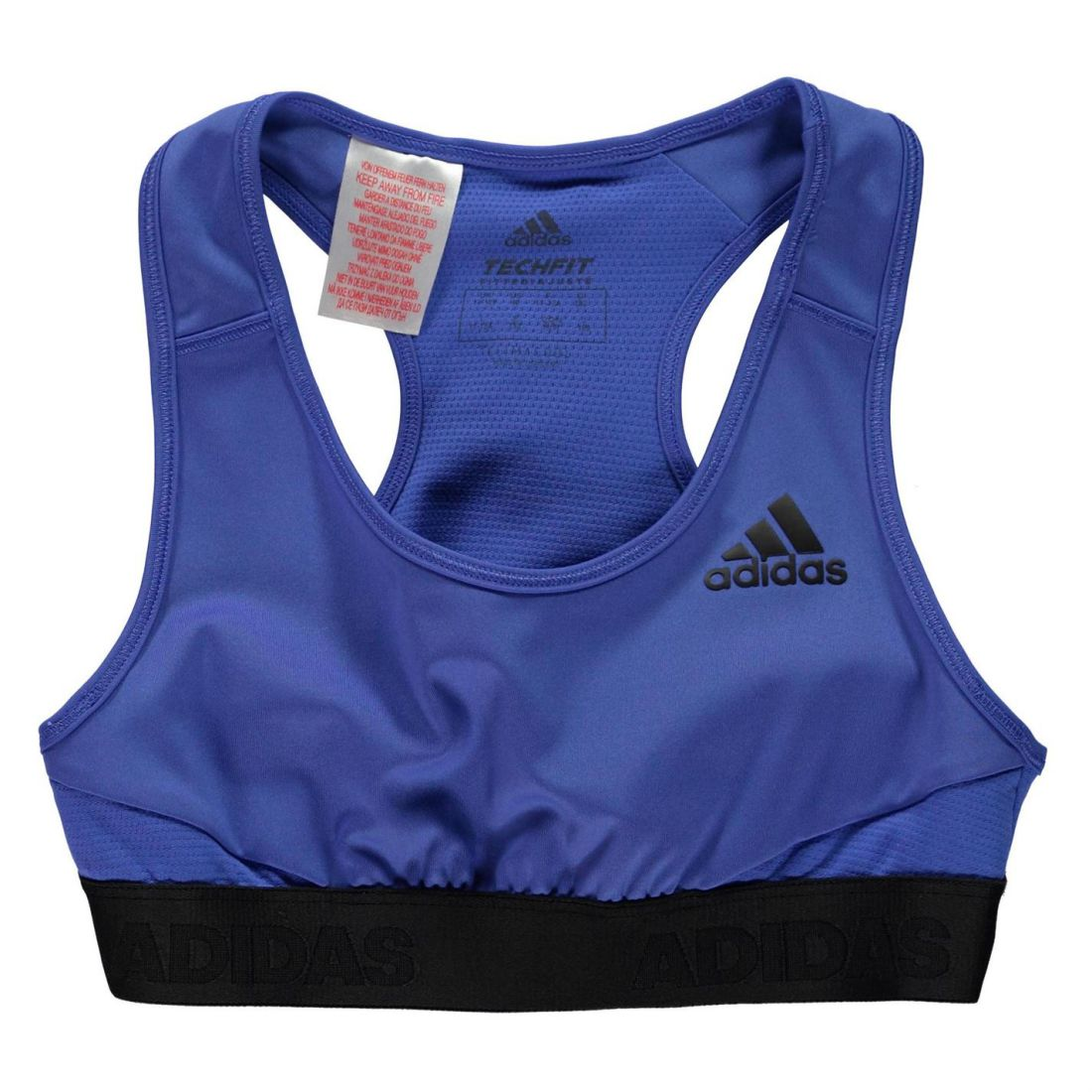 603ed45ee2a50 1 sur 2 adidas ASK Athletic Bra Youngster Girls Crew Neck Lightweight Racer  Back Mesh