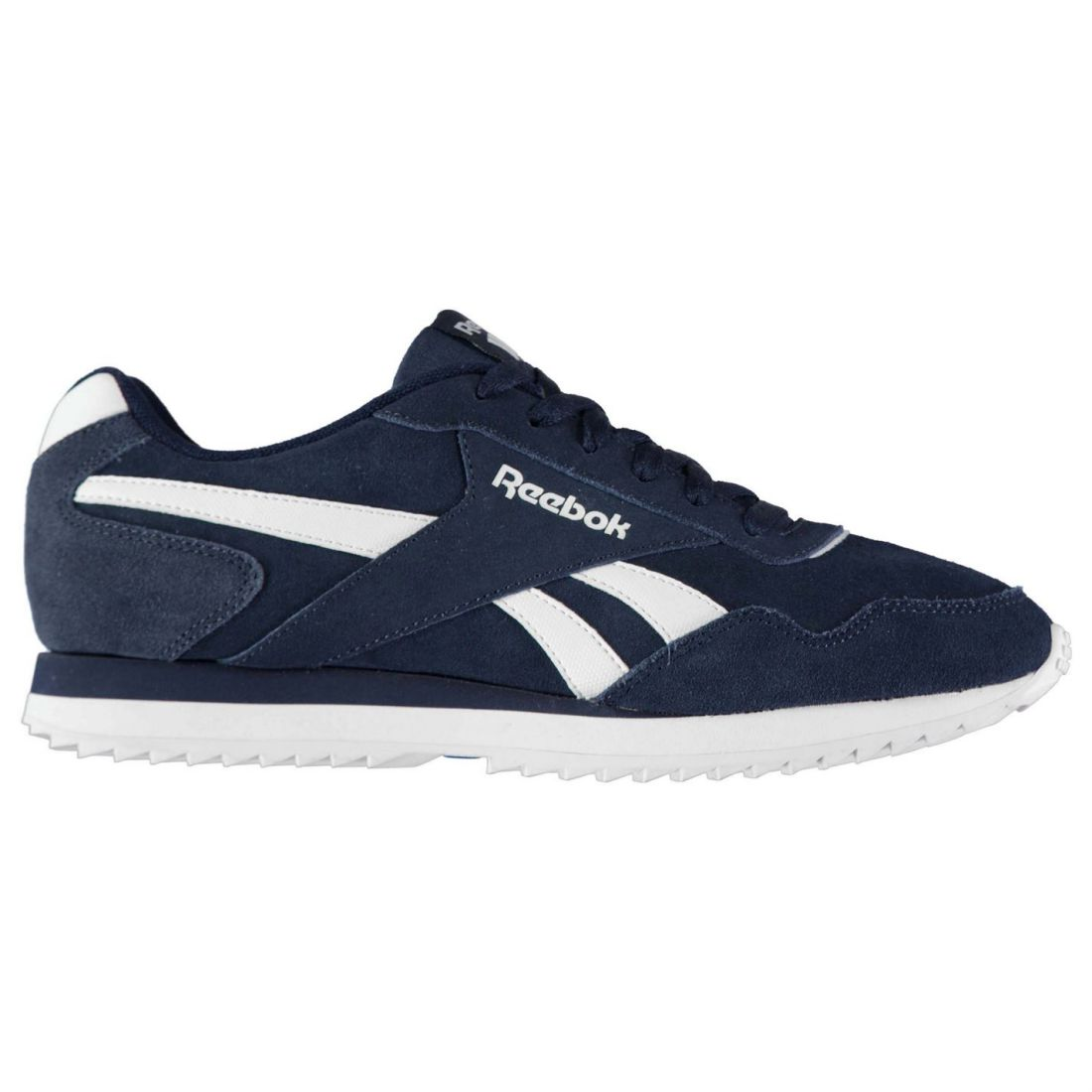 Reebok Mens Royal Glide Ripple Suede Trainers Sneakers shoes Lace Up Panelled