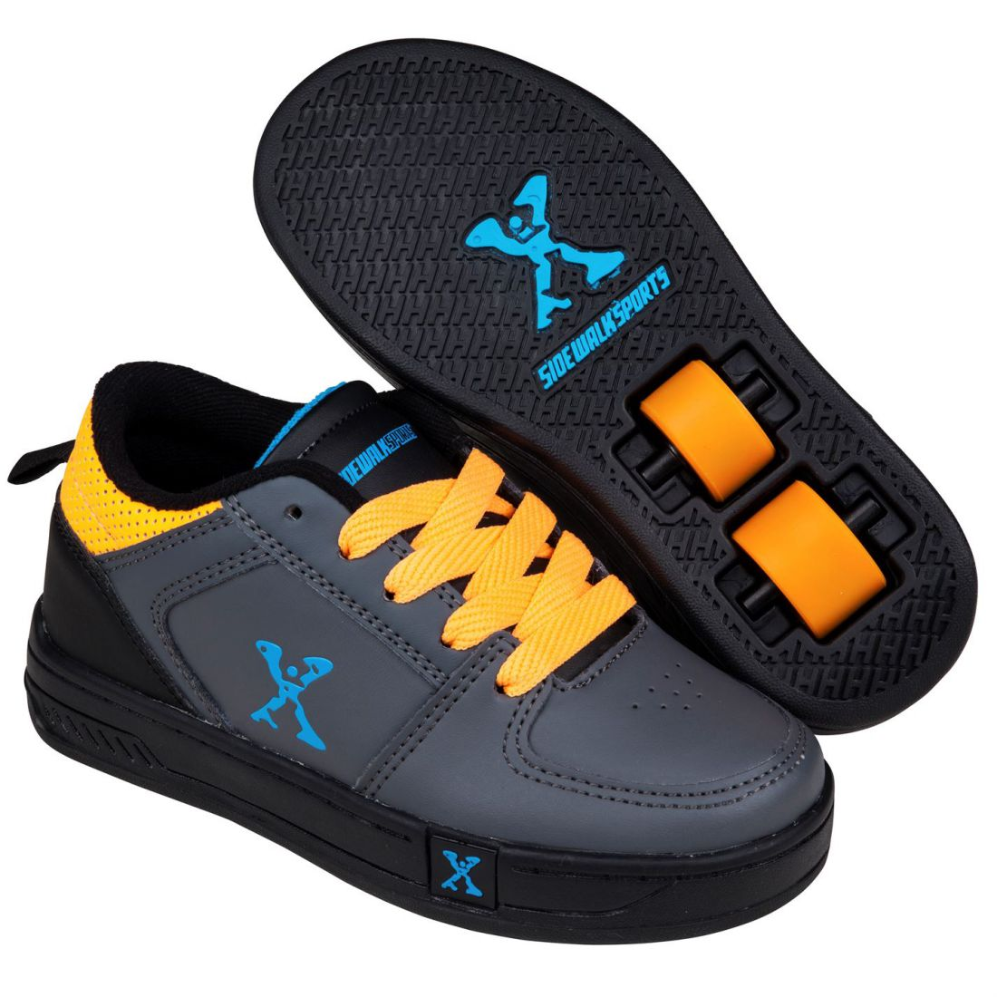 bc6cef0e1a8 Sidewalk Sport Kids Street Boys Lace Up Skate Wheeled Roller Shoes ...