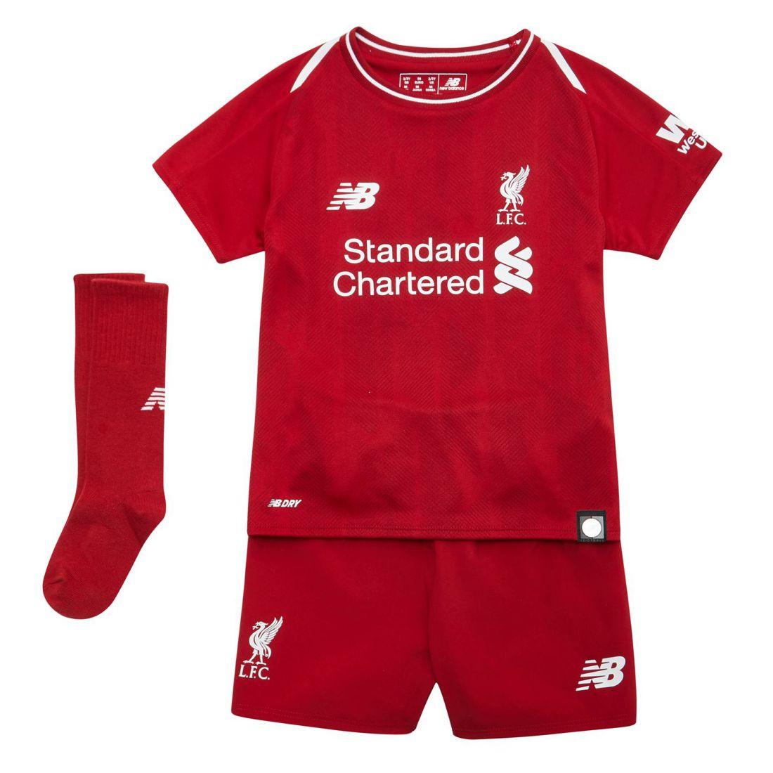 648b14747 Details about New Balance Kids Liverpool Home Mini Kit 2018 2019 Domestic  Minikits Football