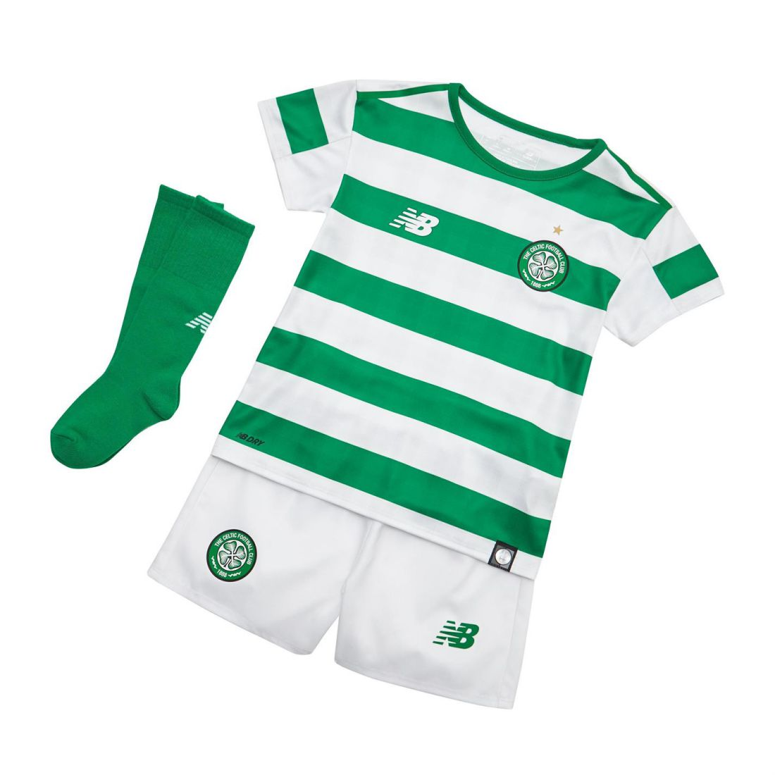 54bdf9f9a New Balance Kids Boys Celtic Home Mini Kit 2018 2019 Domestic ...