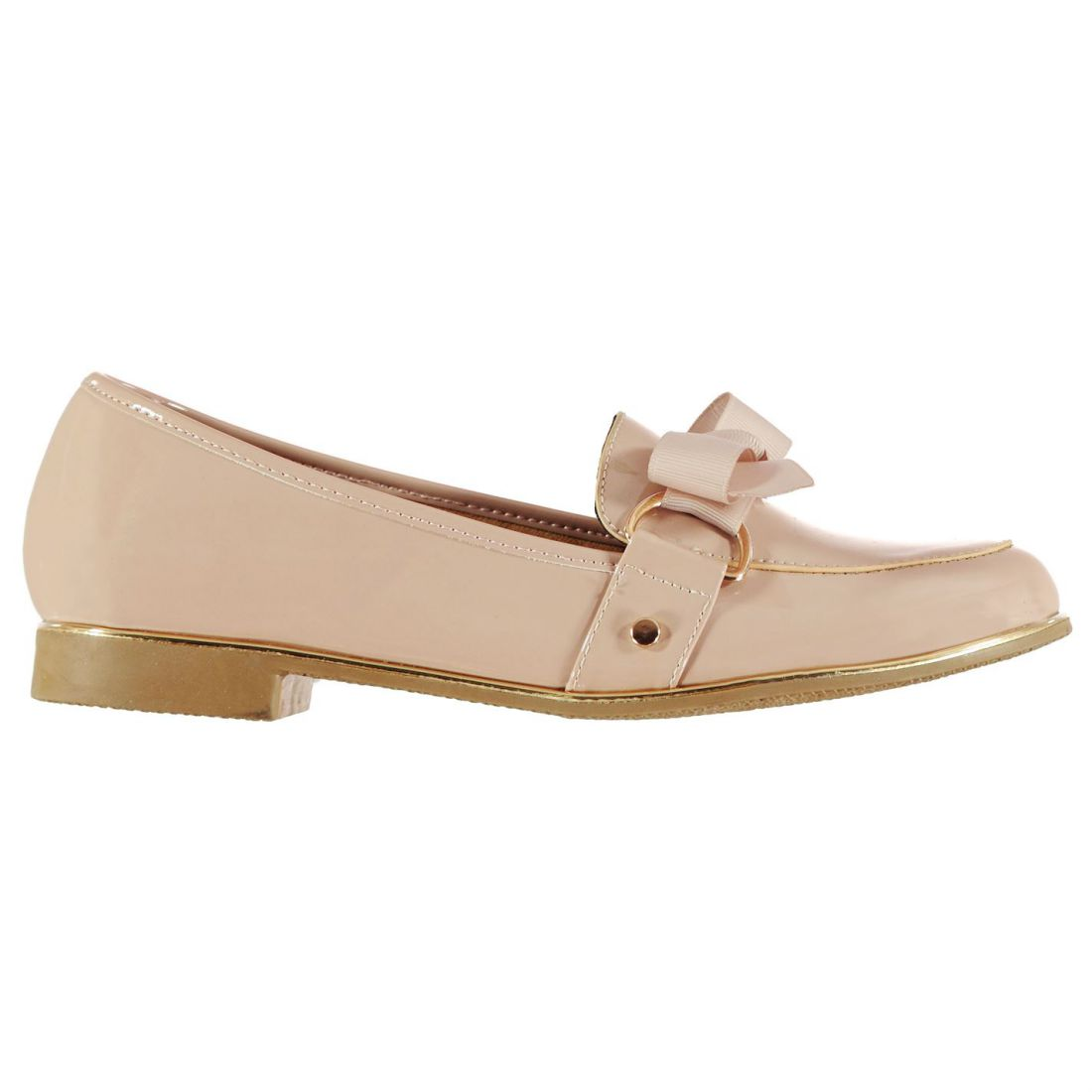 8a4081565fe Details about Miso Womens Bryony Bow Shoes Flats Slip On Comfortable Fit