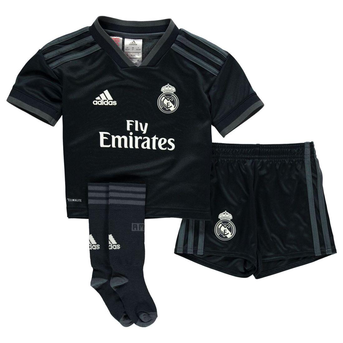 39029353d adidas Real Madrid Away Mini Kit 2018 2019 Childrens Domestic ...