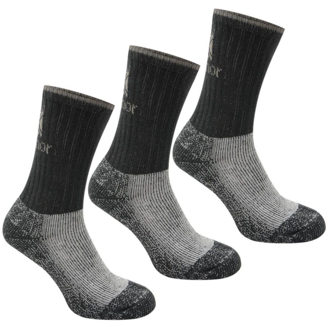 Karrimor Heavyweight Boot Sock 3 Pack Mens Gents Socks Warm Um Eine Reibungslose üBertragung Zu GewäHrleisten
