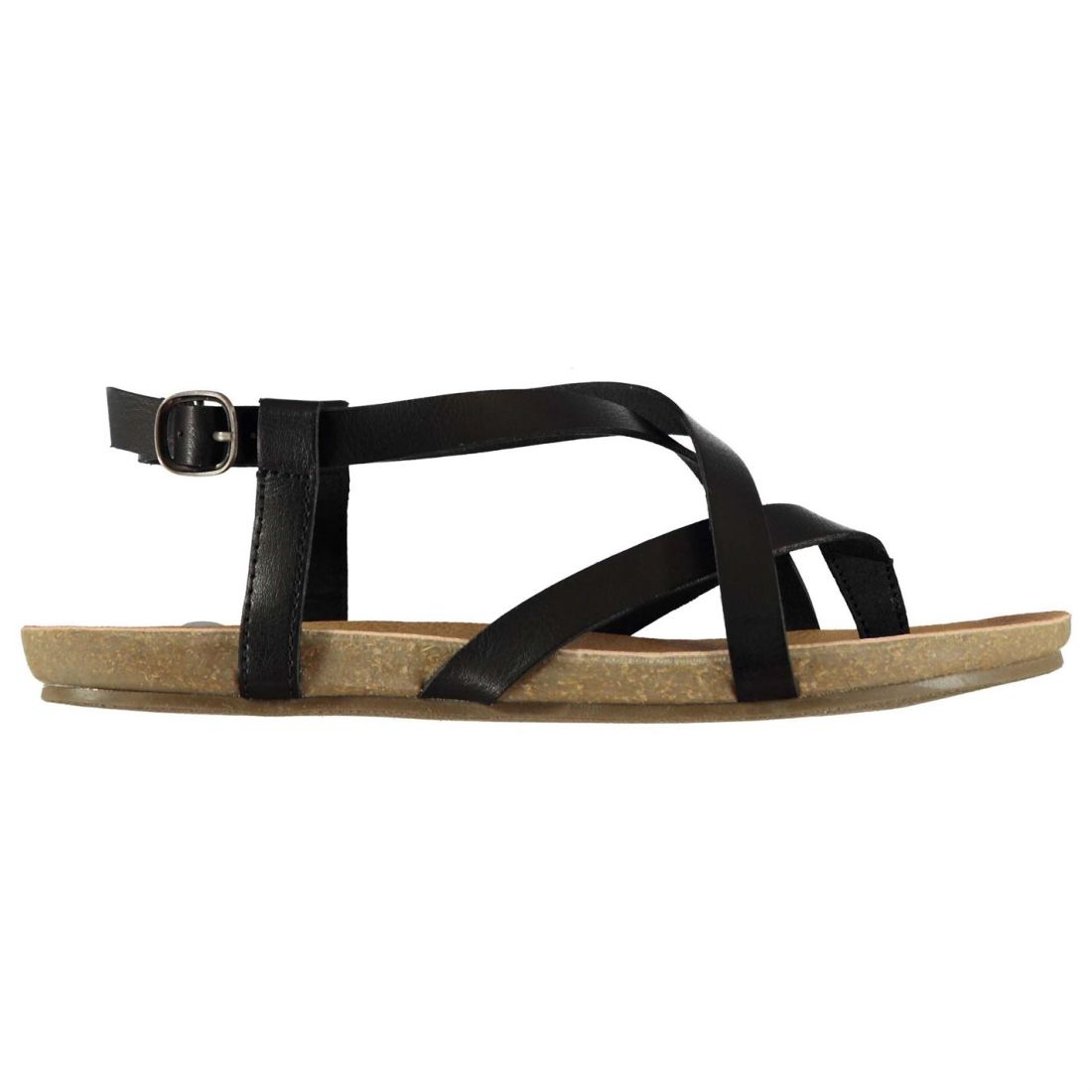 4920a8d3cabb Image is loading Blowfish-Womens-Golden-Sandals-Flat-Buckle-Fastening-Strap