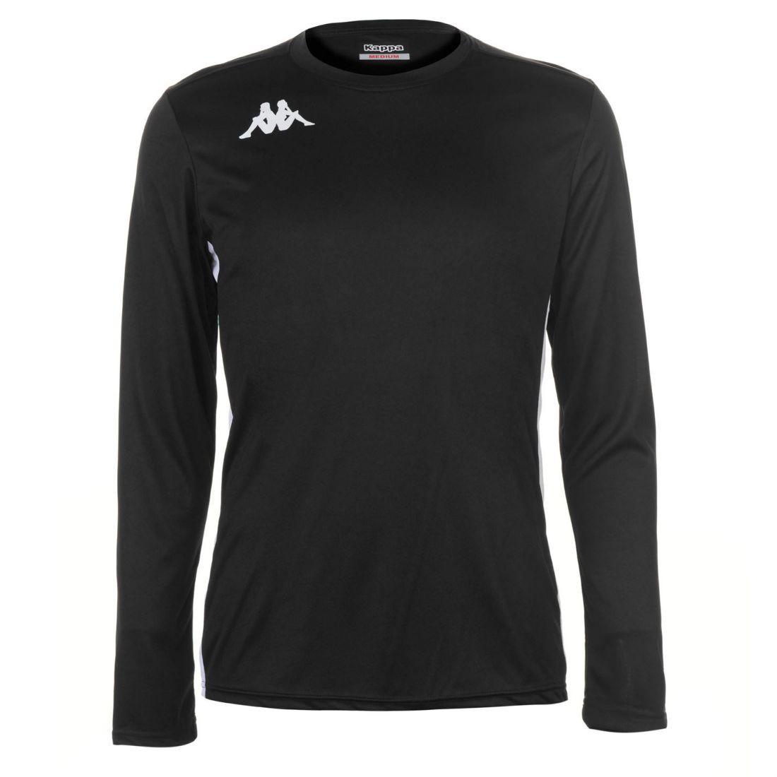 9ef468c6dc95 Kappa Mens Torino Long Sleeve T Shirt Crew Neck Top Lightweight Mesh ...
