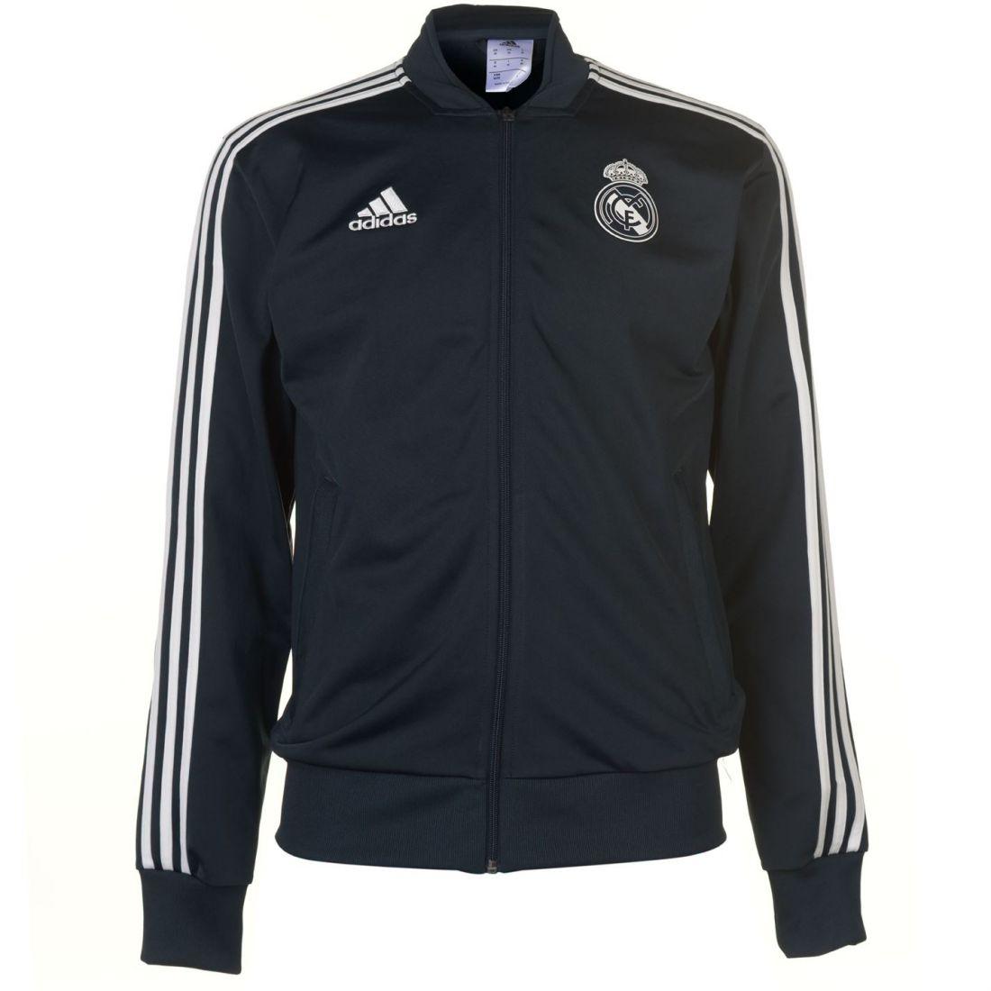ab25b3f3a17 adidas Real Madrid CF Presentation Jacket Mens Gents Tracksuit Top ...