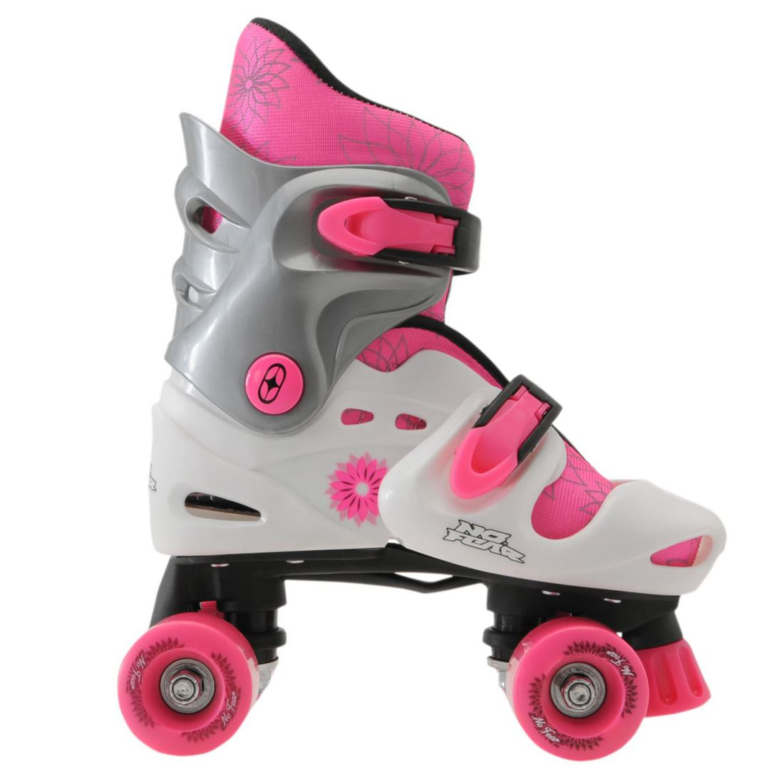 Details about No Fear Quad Skates Rollers Wheeled Trainers Skate Shoes  Girls Childrens 90be0526e