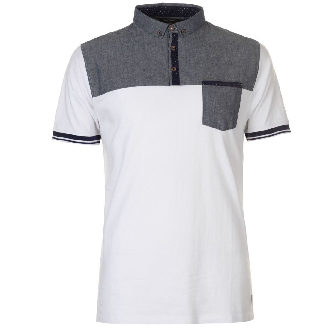 b244a78ab4136c Details about Pierre Cardin Mens Chest Panel Polo Shirt Classic Fit Tee Top  Short Sleeve