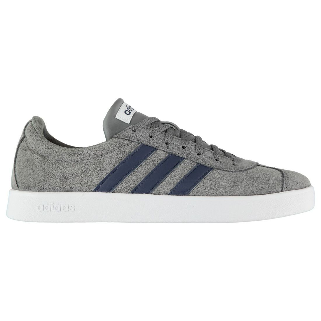 c01dc6053b5ec adidas VL Court 2 Shoes Mens Gents Suede Sneakers Laces Fastened Cushioned  Ankle