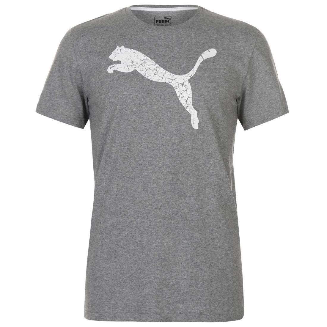 0a9b76d5421 Puma Big Cat QT T Shirt Mens Gents Crew Neck Tee Top Short Sleeve ...