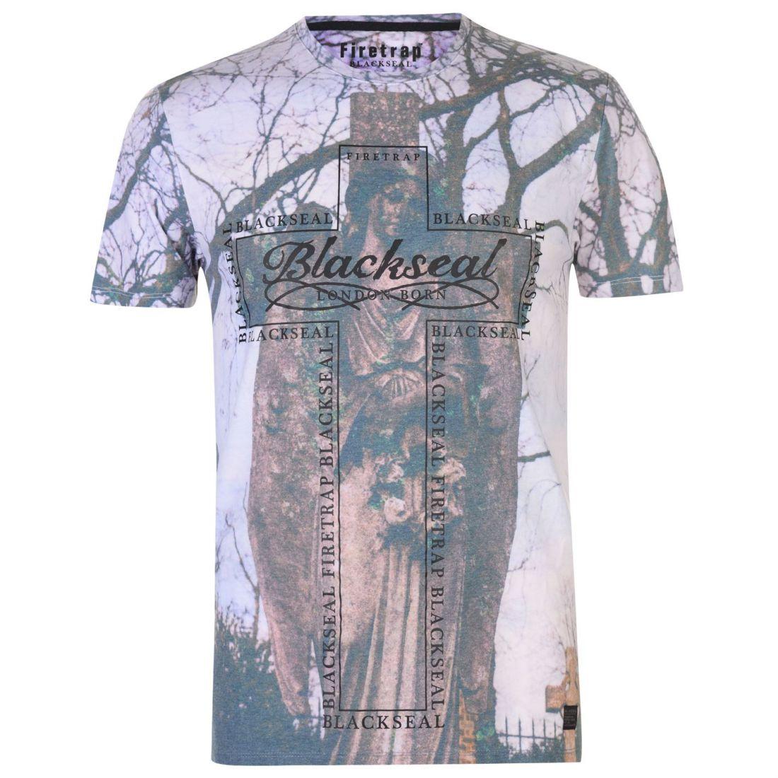 Crew Neck Firetrap T Mens Shirt Ebay Graveyad qaIxx10wt
