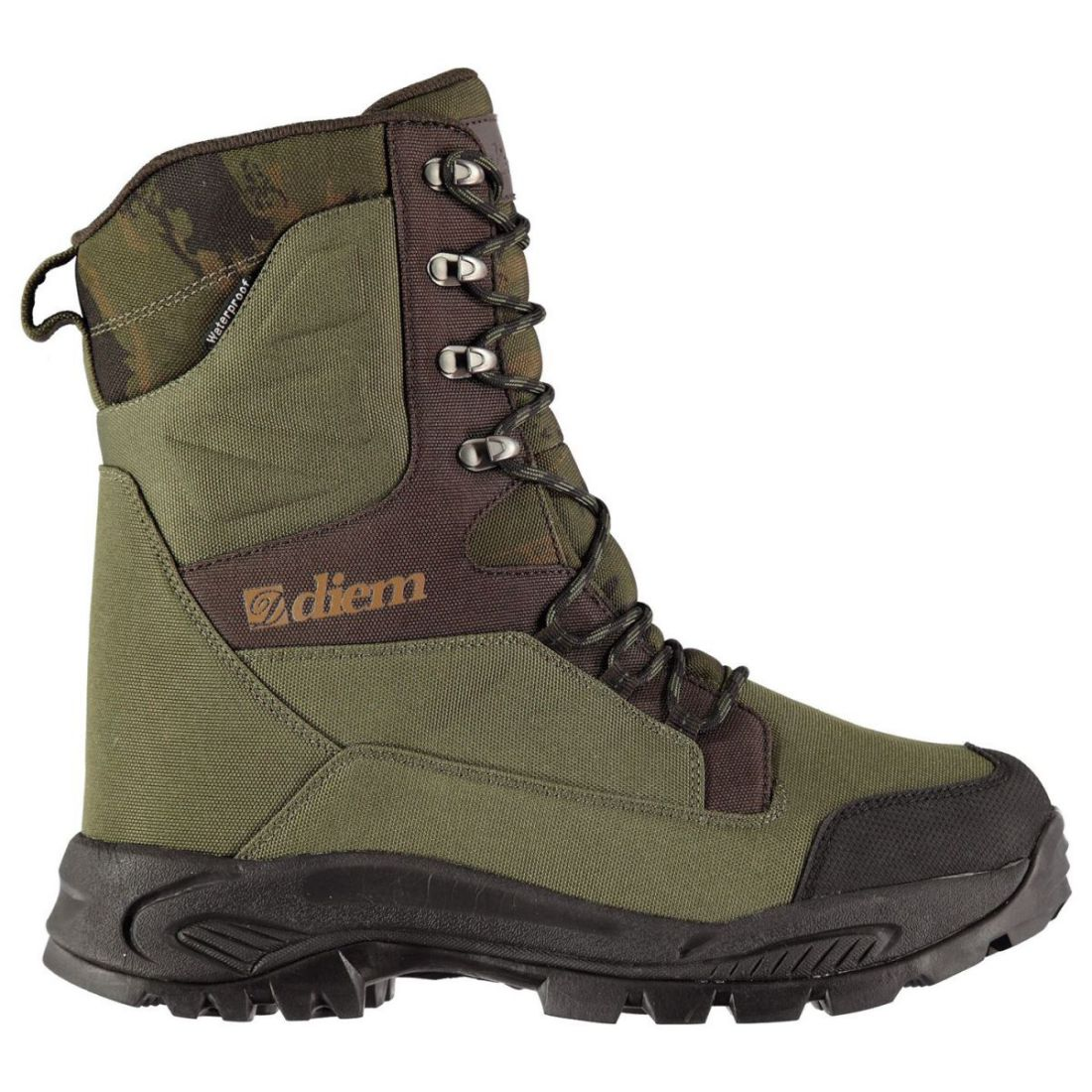 Diem All Terrain Fishing Boots Mens Gents Laces Fastened Water Repellent