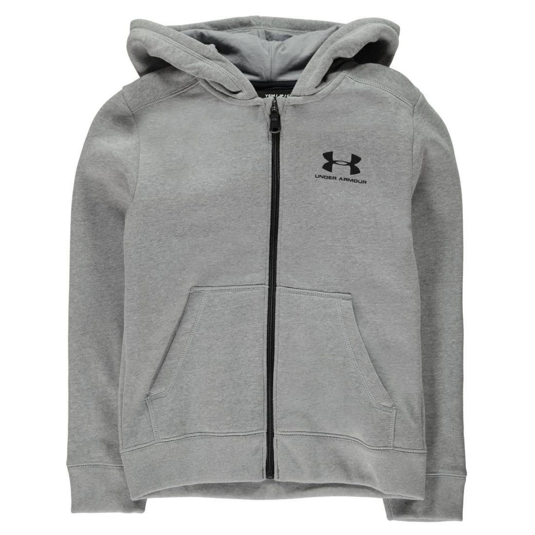 Under Armour Kids Boys Logo Full Zip Hoody Junior Hoodie Hooded Top Cotton  Print dd9e70131