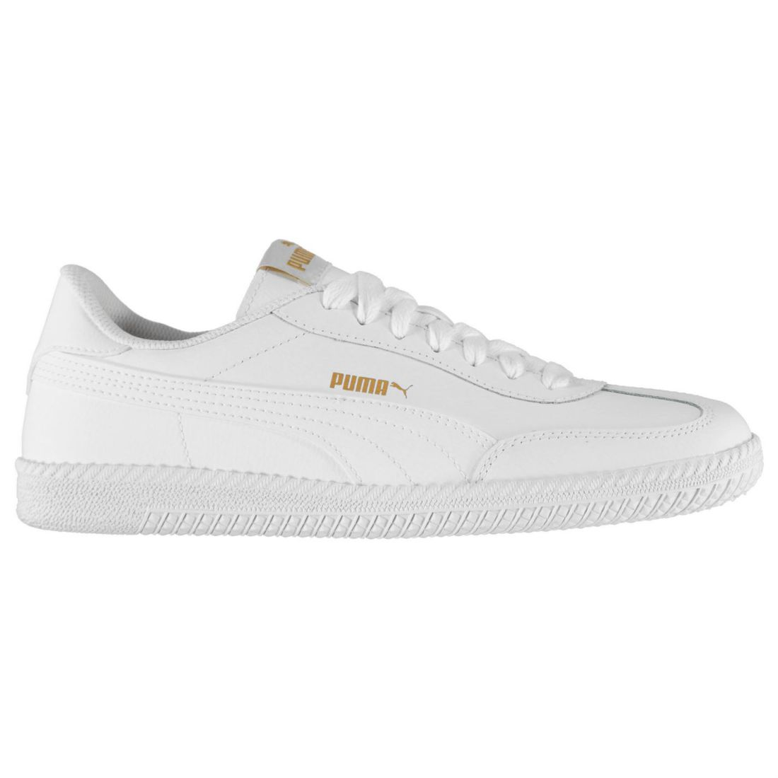 f862470cbfc2 Details about Puma Mens Astro Cup Leather Trainers Court Lace Up Padded  Ankle Collar Tongue