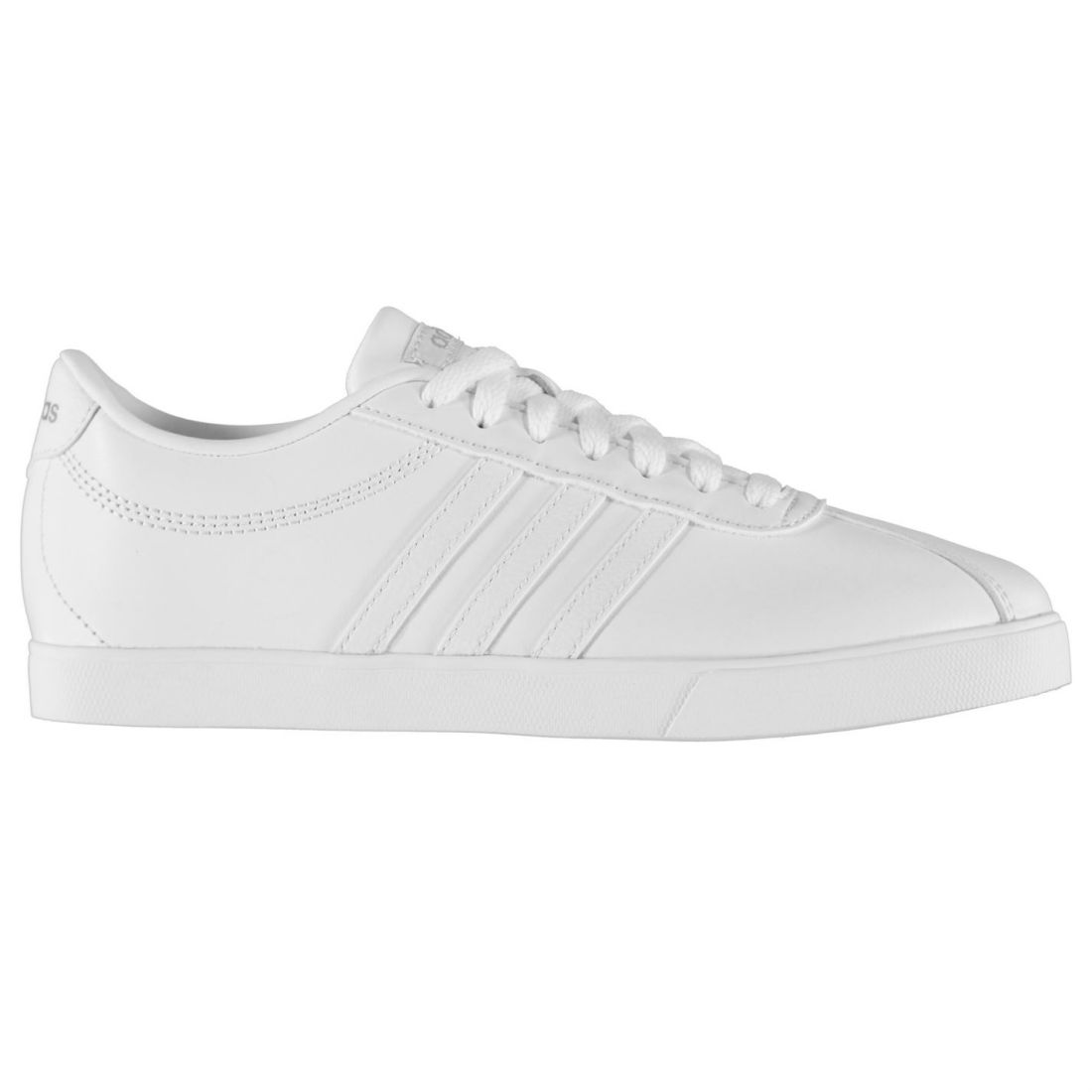 aa0a306bf8 adidas Womens Court Set Leather Trainers Low Lace Up Comfortable Fit Tonal