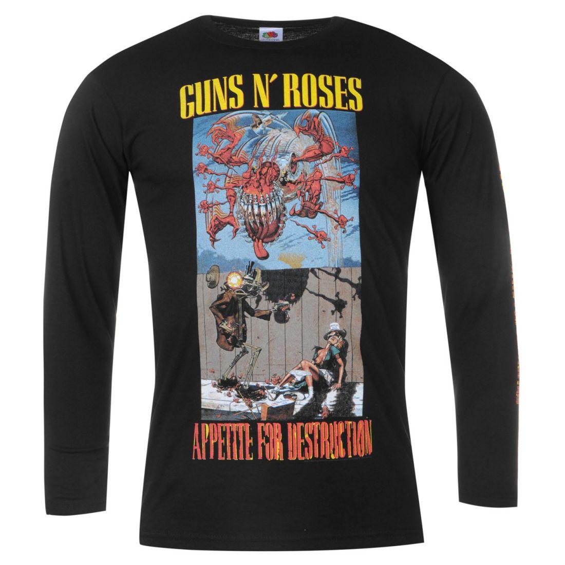 Guns N Roses Shirts : official guns n roses full length sleeve t shirt mens gents tee top crew neck ebay ~ Russianpoet.info Haus und Dekorationen