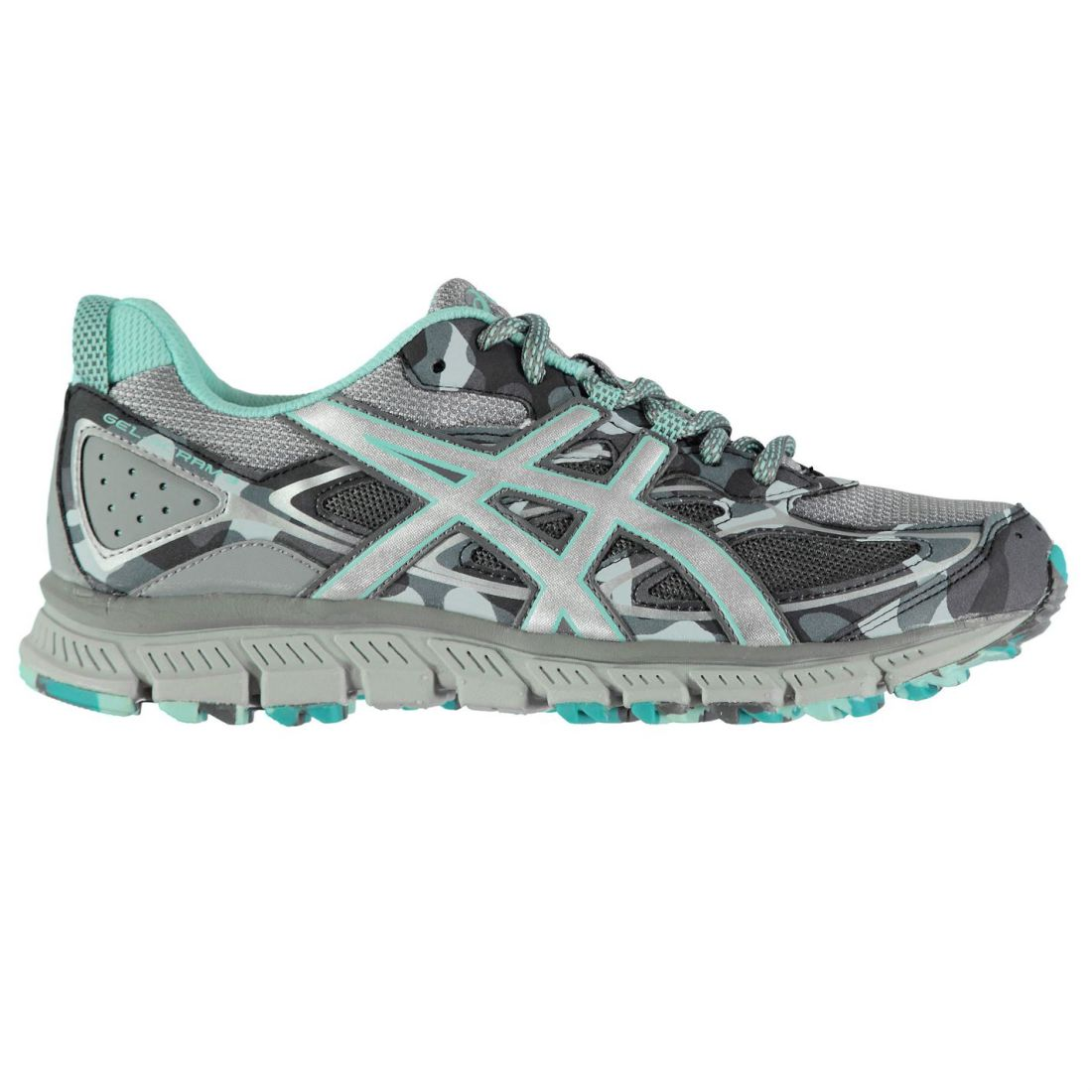 Asics Gel Scram 3 Running shoes Ladies Trail Laces Fastened Padded Ankle Collar
