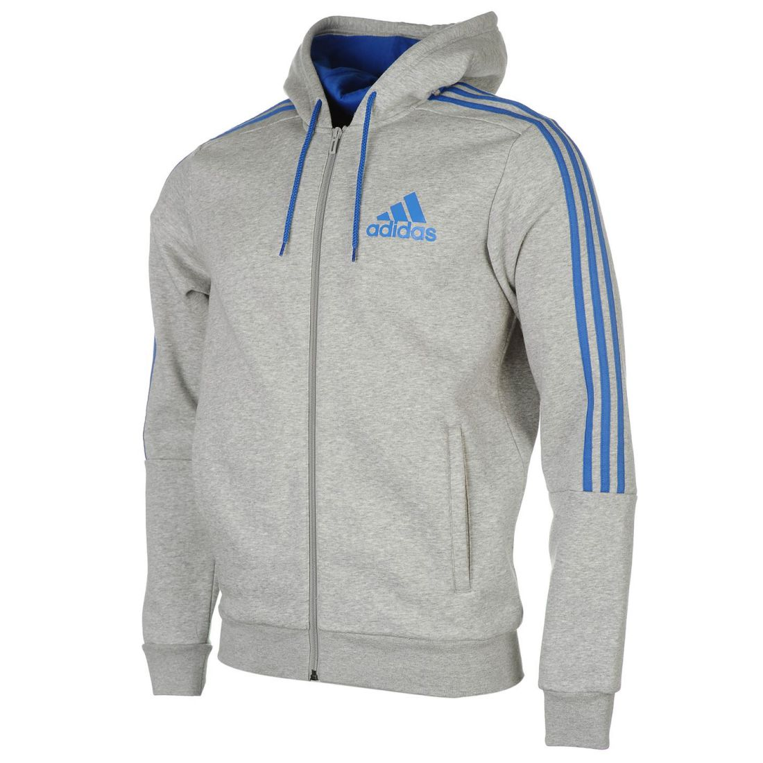 Details about adidas Mens 3 Stripe Hoody Full Zip Hoodie Long Sleeve Hooded  Warm Casual Top 3532d3930