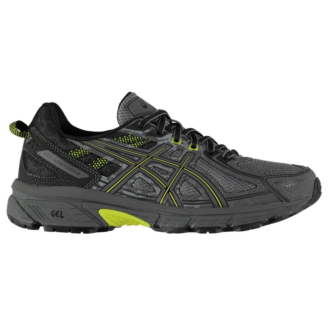 Asics Mens Gel Venture 6 Running shoes Trail Lace Up Breathable Padded Ankle