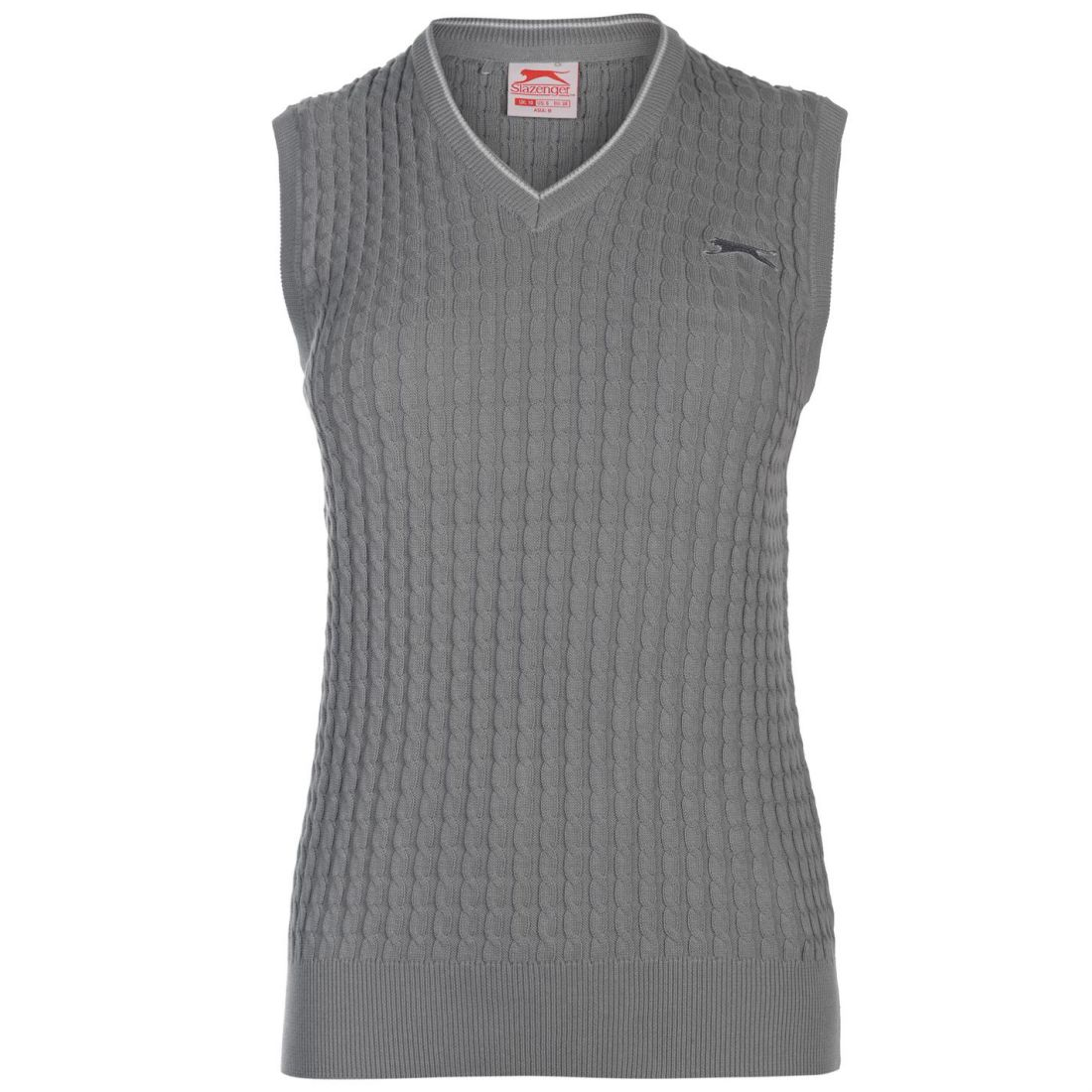 e630583d23 Slazenger Womens Cable Knit Vest Sweater Tank Top Jumper ...