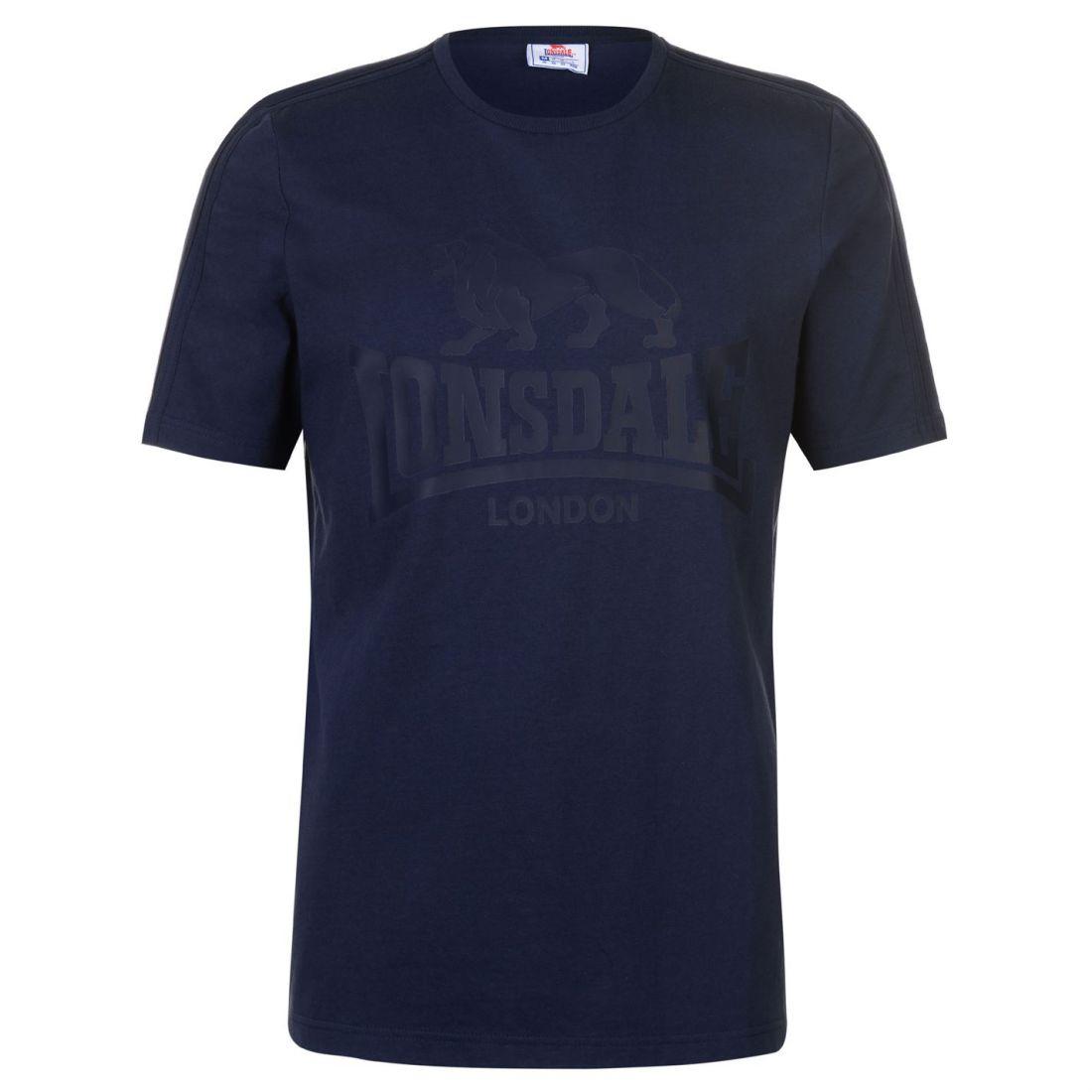 Lonsdale-Large-Logo-T-Shirt-Mens-Gents-Crew-Neck-Tee-Top-Short-Sleeve-Stripe