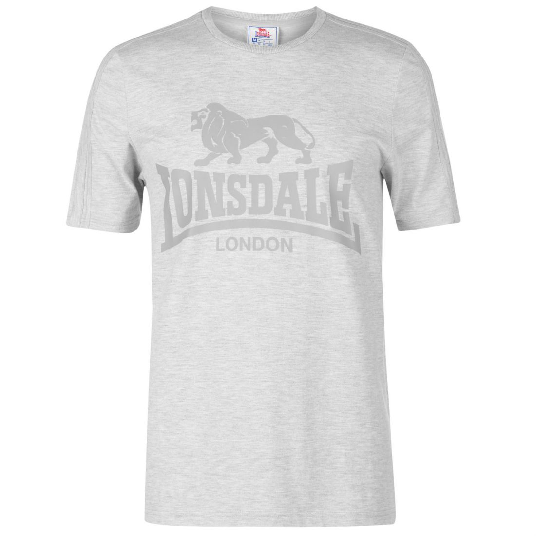 8297ae142c0dd9 Lonsdale Mens Large Logo T Shirt Crew Neck Tee Top Short Sleeve ...