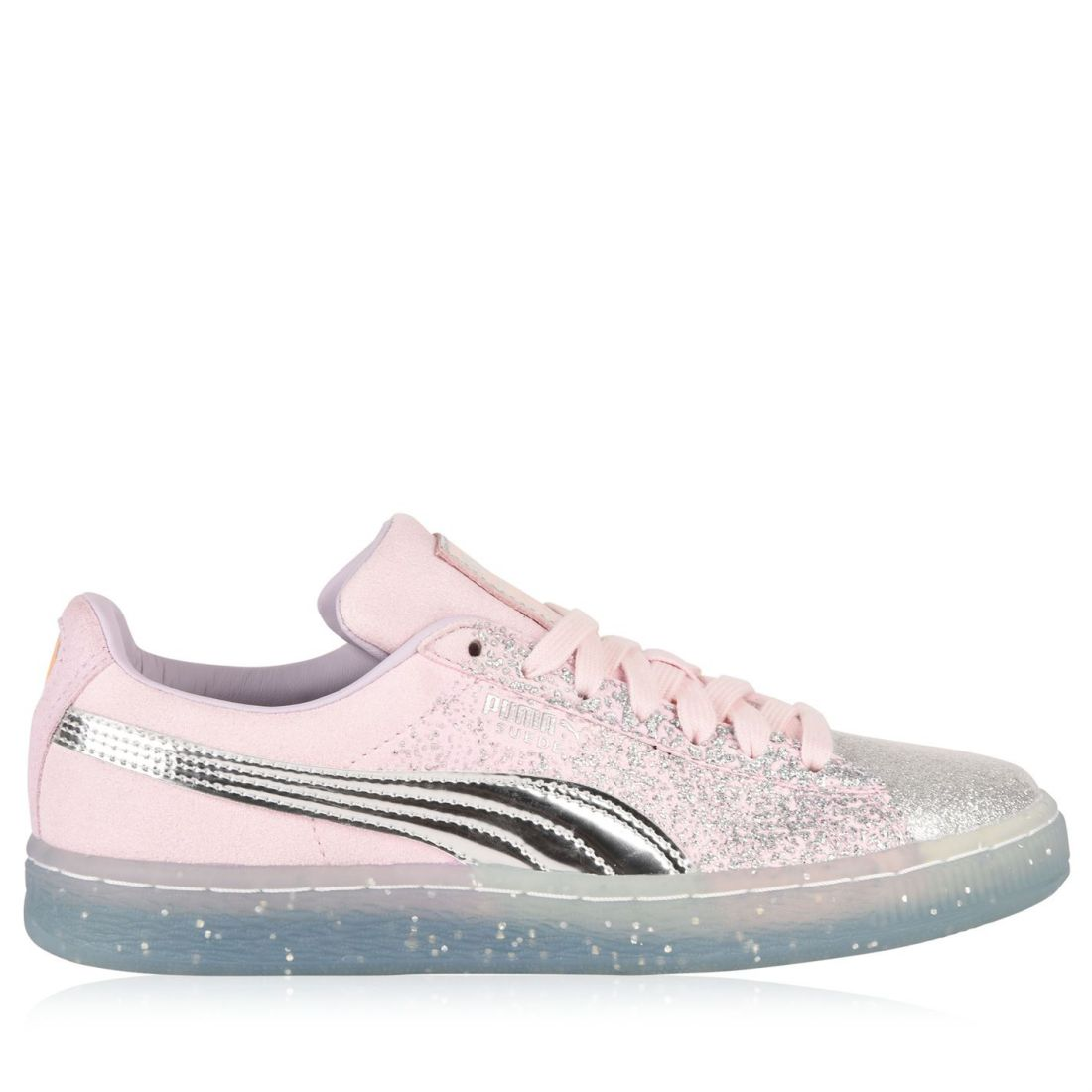 9004ec1b210d Puma X Sophia Webster Womens Suede Trainers Lace Up Rounded Toe ...