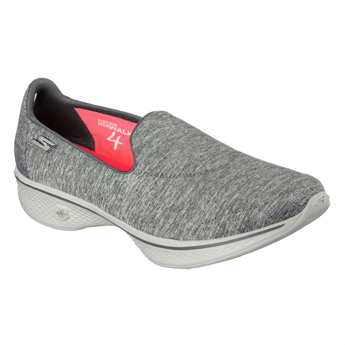 Zapatillas Heather Gowalk Skechers 4 Zapatillas Jersey anttimicrobianas damas gris para Achiever vrvqWnH