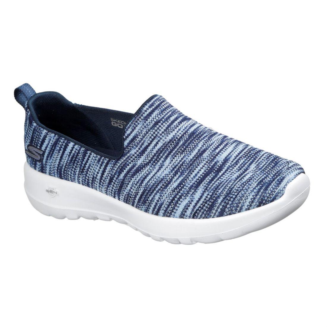 8275de305cb0 Skechers Womens Ladies GoWalk Joy Trainers Slip On Shoes Mesh Upper ...